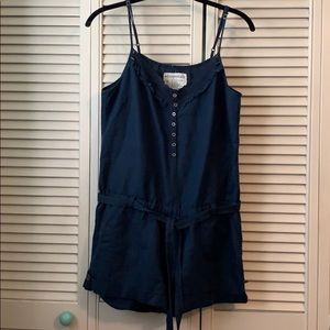 NWT Navy Romper with Tie